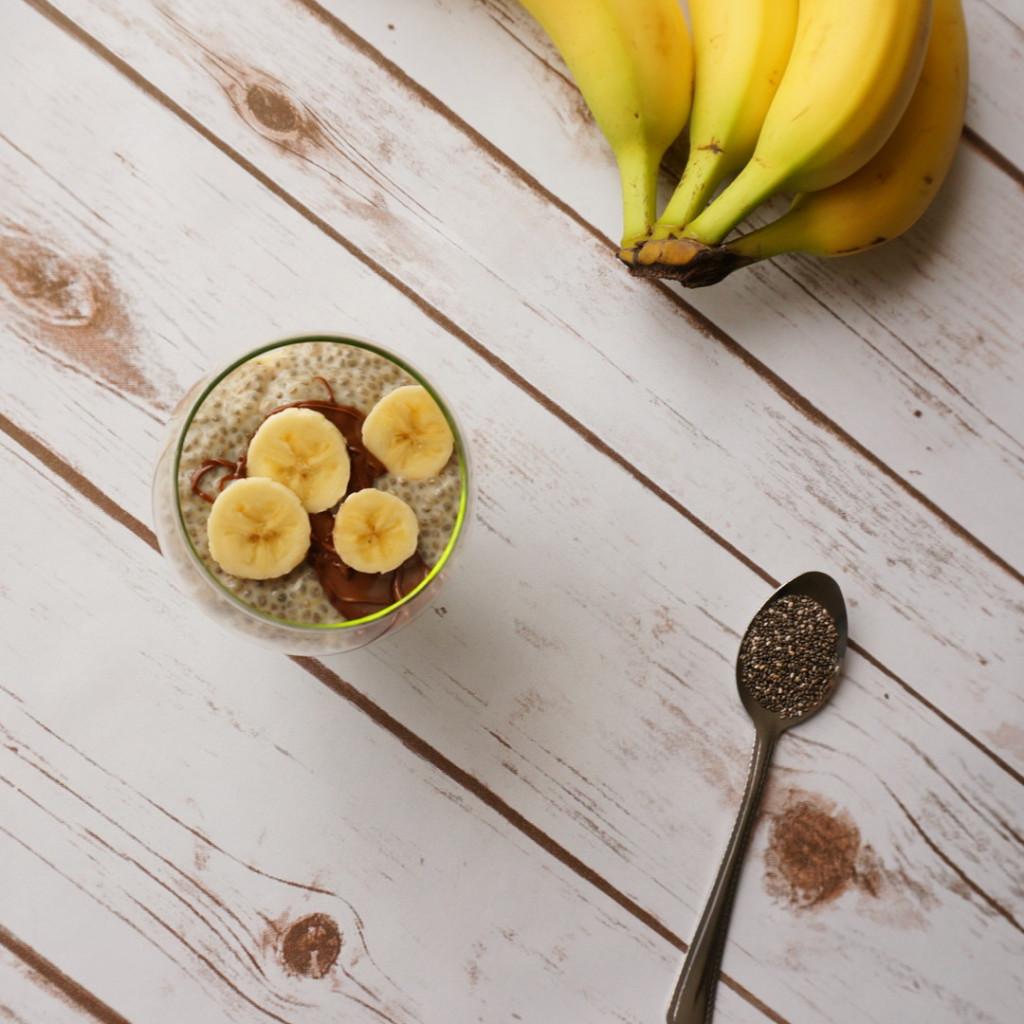 Chunky monkey chia breakfast pudding