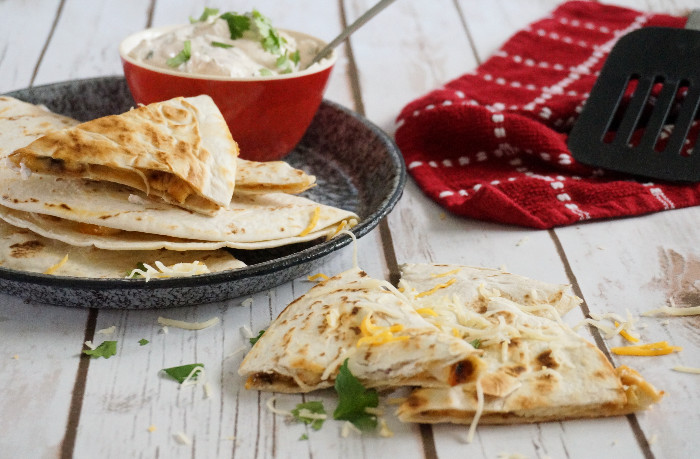 Smoky Grilled Chicken Quesadillas