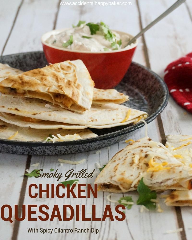Smoky Grilled Chicken Quesadillas