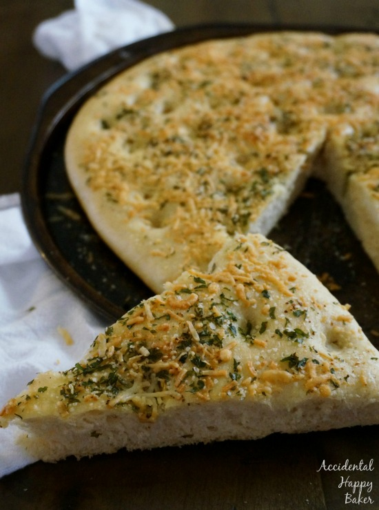 Garlic Cheese Focaccia Bread