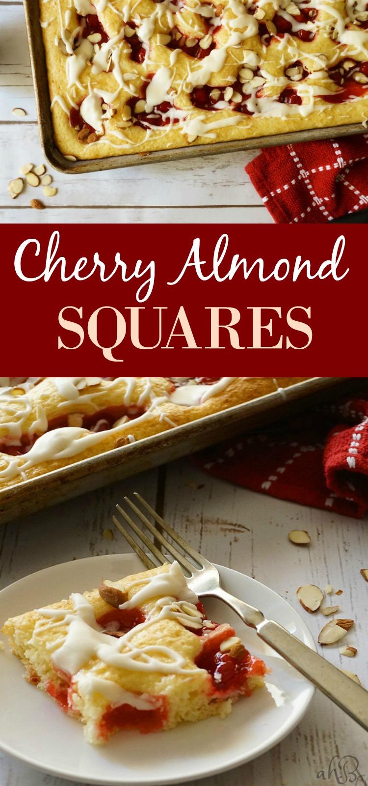 Cherry Almond Squares