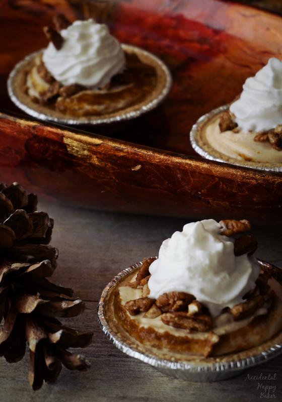 Pumpkin Butter Crunch Pies