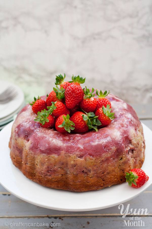 Strawberry Cheesecake Upside Down Bundt Cake