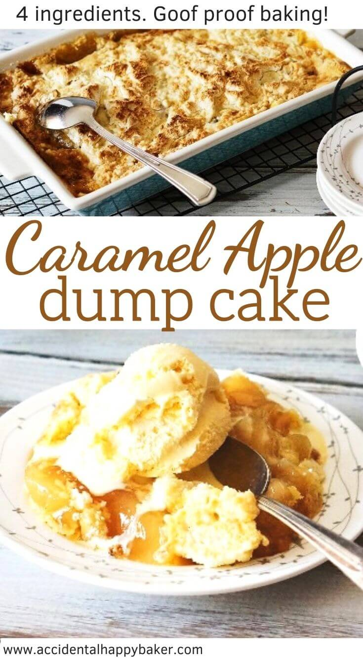 Caramel Apple Dump Cake is the easiest, yet most delicious cake. With only 4 ingredients and 5 steps it's completely goof proof.