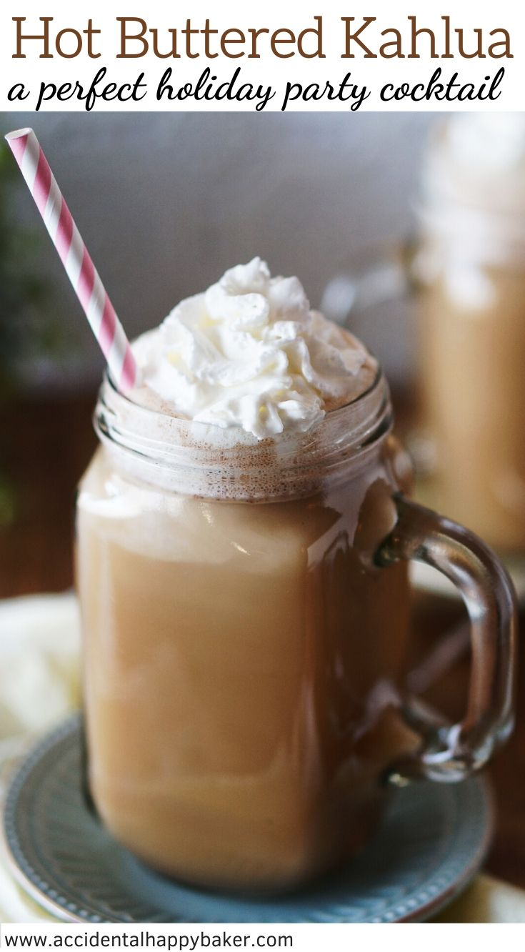 Easy to make, deliciously sweet and creamy. This Hot Buttered Kahlua is the best holiday cocktail!