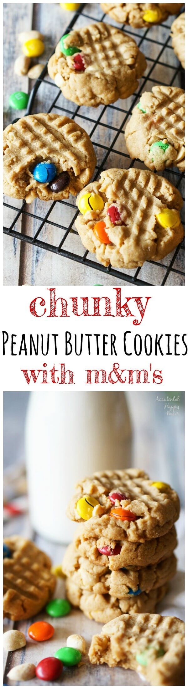 Chunky-Peanut-Butter-Cookies-with-M&M's