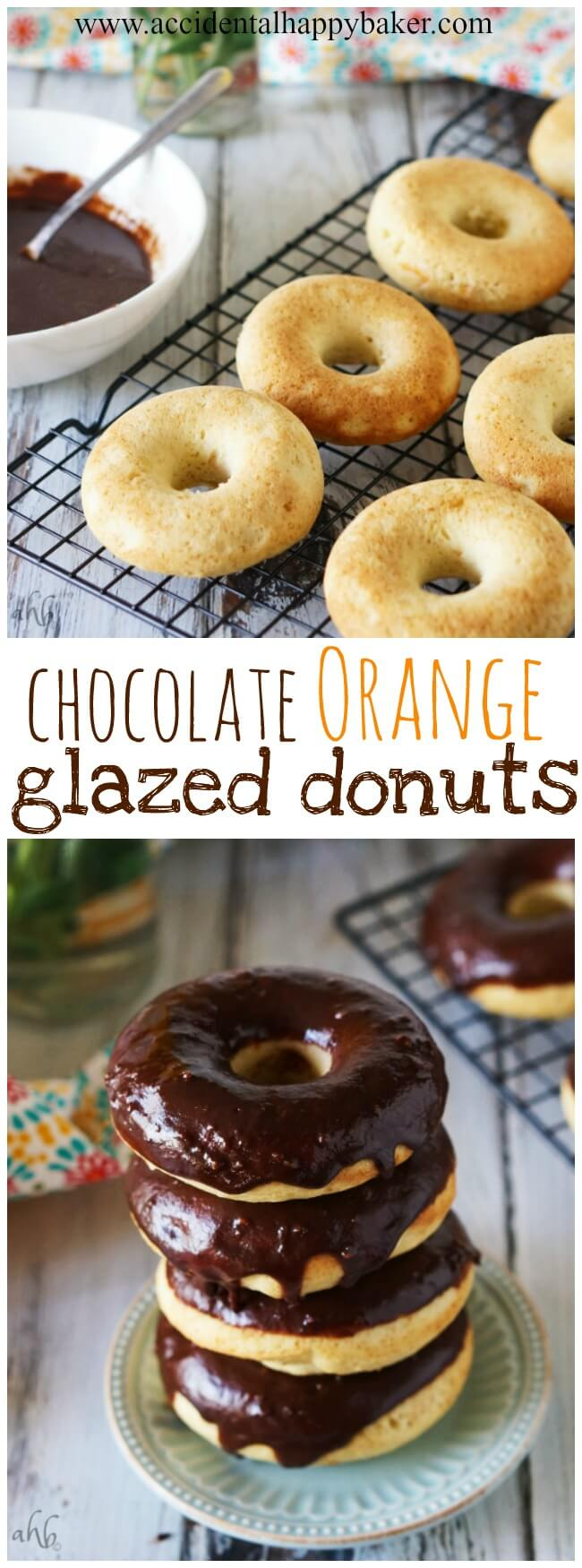 Chocolate Glazed Orange Donuts
