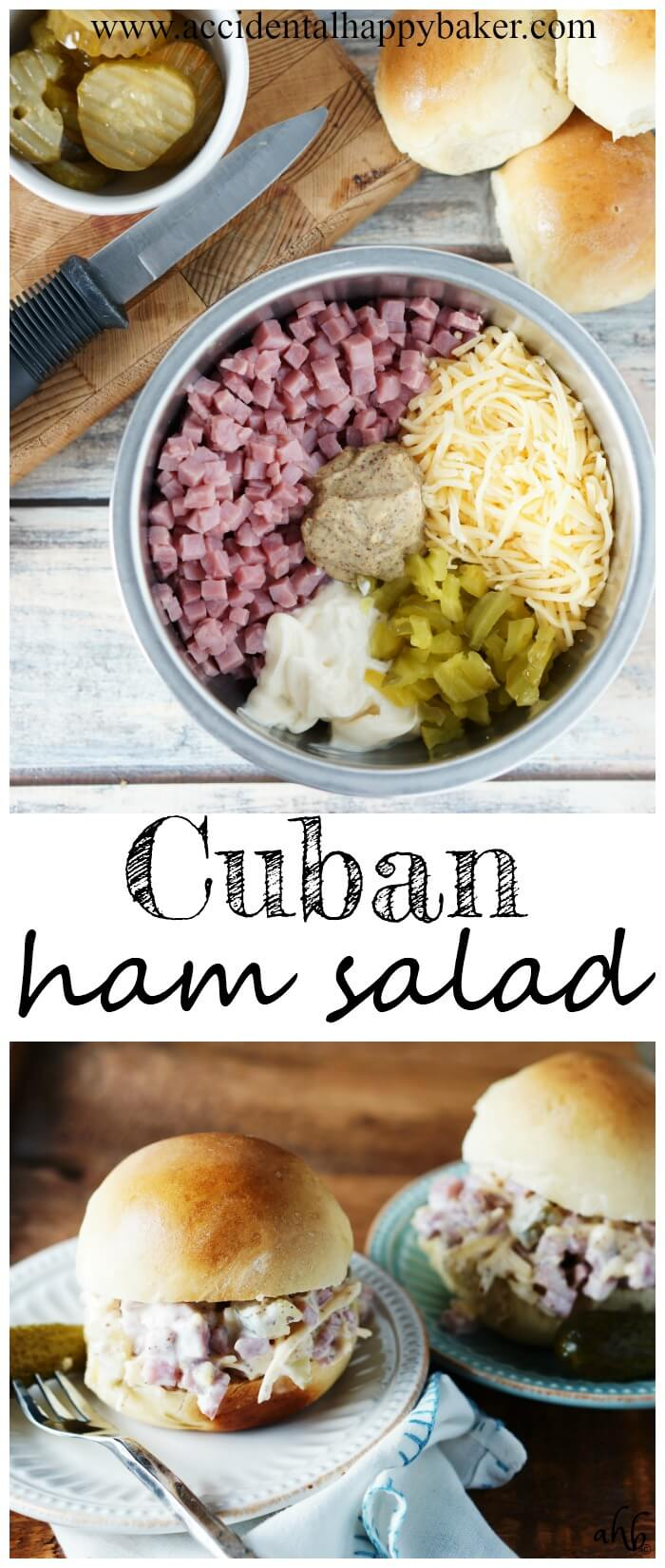 Pep up your sandwiches with this easy Cuban ham salad. This zippy sandwich spread has the flavor of Cuban sandwiches and it perfect for parties and picnics.
