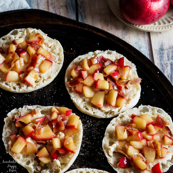 Apple Bacon Cheese English Muffins