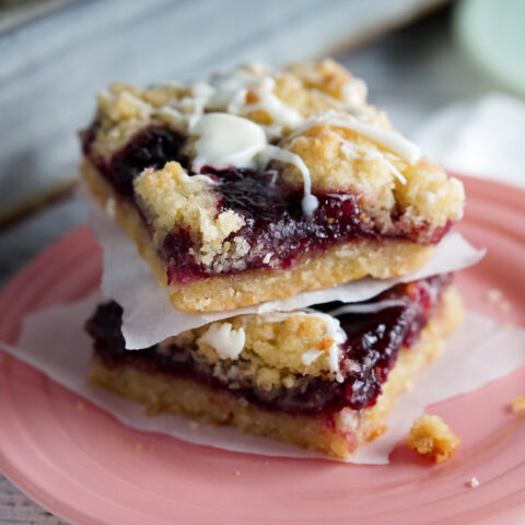 Raspberry White Chocolate Shortbread Bars