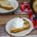 Deep and rich molasses brings the flavor in this simple Molasses Skillet Cake. #skilletcake #molassescake #molasses #easyrecipe #castironskillet