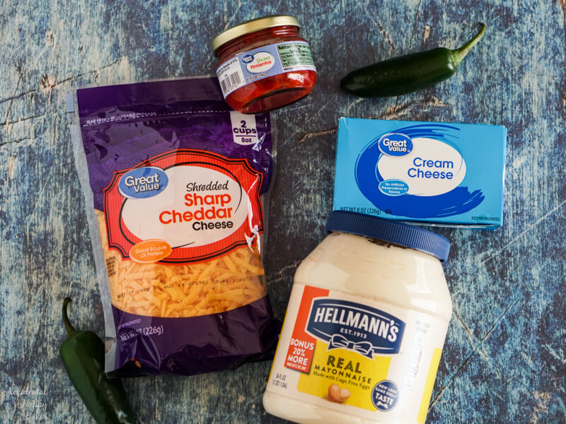 Ingredients for Jalapeno Pimento Cheese