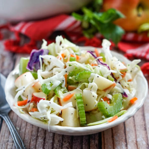 Apple Coleslaw with Poppy Seed Dressing