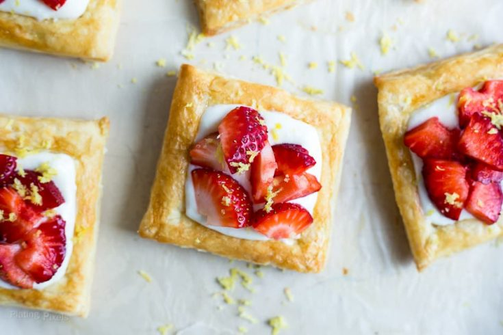 Strawberry Lemon Cream Breakfast Tarts