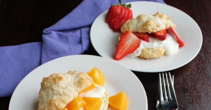 Brunch Shortcakes with Simple Yogurt Drop Biscuits