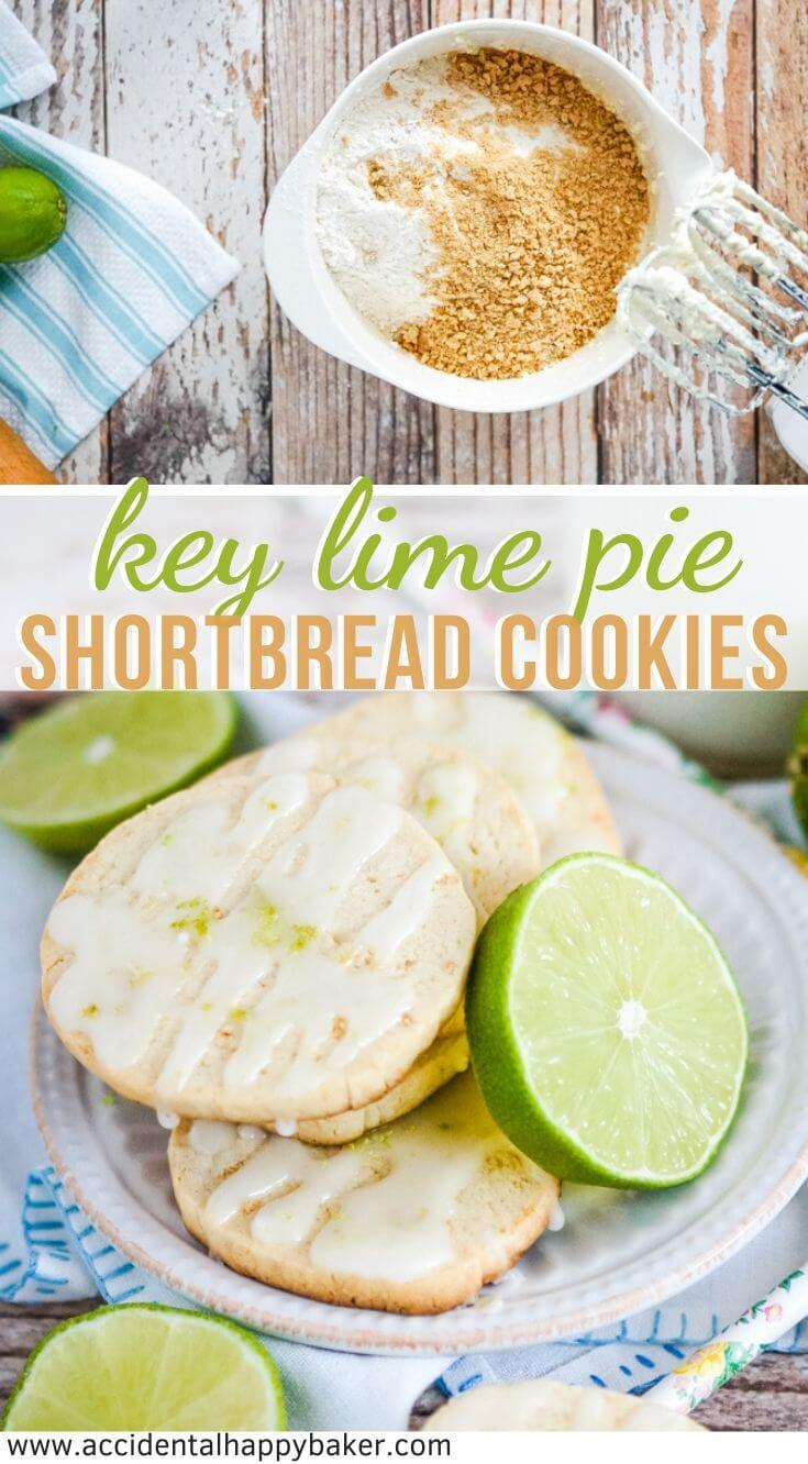 Key Lime Pie Shortbread Cookies have all the components of Key Lime Pie in cookie form, even down to crust! Like taking a bite of Florida sunshine. #keylimepie #shortbreadcookies #cookierecipe #accidentalhappybaker