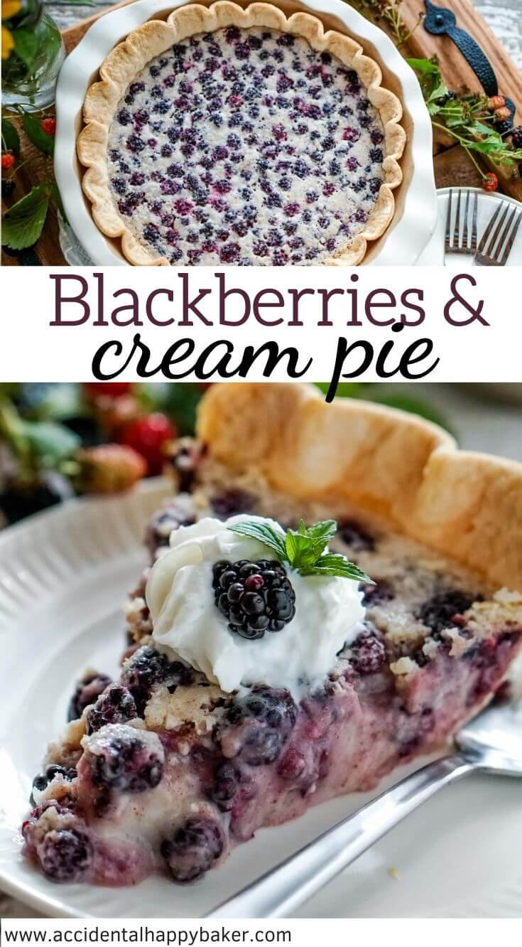 Simple ingredients shine in this unbelievably easy, creamy and decadent blackberries and cream pie recipe. An old fashioned dessert you'll add to your keeper box!